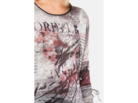 Shirt, gemustert, Oversized, Langarm