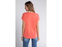 T-Shirt, Spitzen-Vorderseite, Oversized, Flammjersey