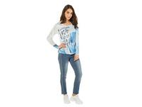 Shirt, Graffitt-Druck vorne, Schulter-Galon, Langarm
