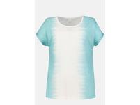 T-Shirt, Batik-Akzente, Ausbrennerjersey