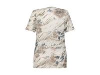 T-Shirt, Blütenmuster, oversized, Ausbrennerjersey