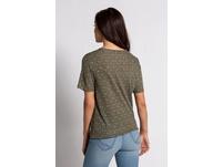T-Shirt, fein gemustert, Bindeband, Gummisaum