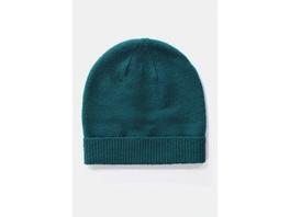 Mütze, Krempe, weicher Strick