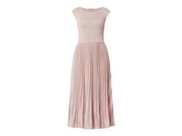 Kleid mit Effektgarn und Plisseefalten