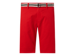 Regular Slim Fit Chino-Shorts mit Gürtel Modell 'Josh'