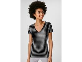 Basic-T-Shirt - Bio-Baumwolle - gestreift