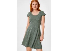 Fit & Flare Kleid - Bio-Baumwolle - gepunktet