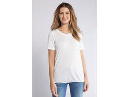 Gina Laura T-Shirt, Ajourmuster, leichter Jersey