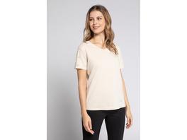 Gina Laura T-Shirt, Ärmelstickerei, V-Ausschnitt
