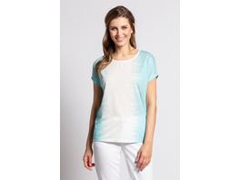 Gina Laura T-Shirt, Batik-Akzente, Ausbrennerjersey