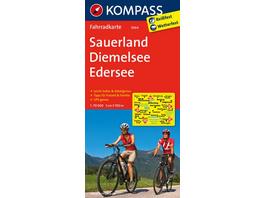 KOMPASS Fahrradkarte Sauerland - Diemelsee - Edersee